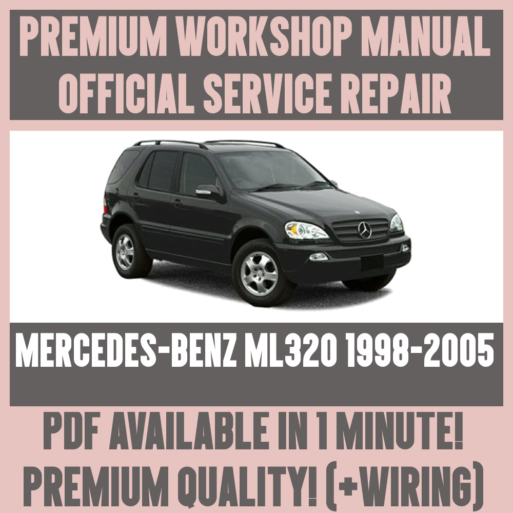 hight resolution of details about workshop manual service repair guide for mercedes benz ml320 1998 2005 wiring