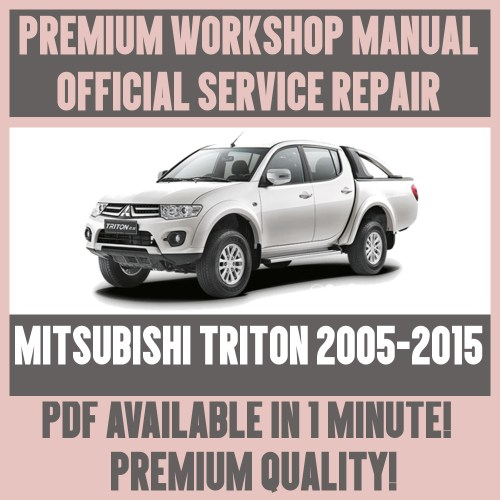 small resolution of  workshop manual service repair guide for mitsubishi l200 2001 2005