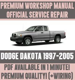 details about workshop manual service repair guide for dodge dakota 1997 2005 wiring [ 1000 x 1000 Pixel ]