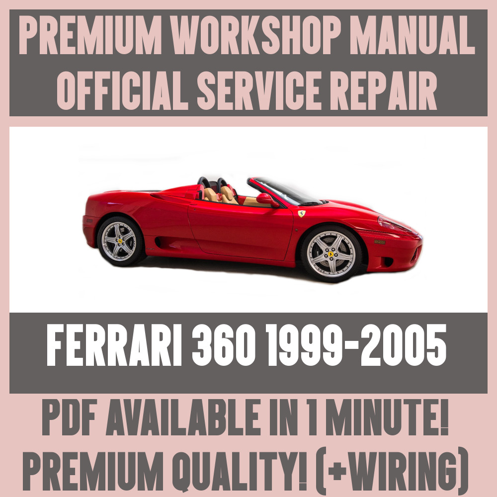 hight resolution of details about workshop manual service repair guide for ferrari 360 1999 2005 wiring
