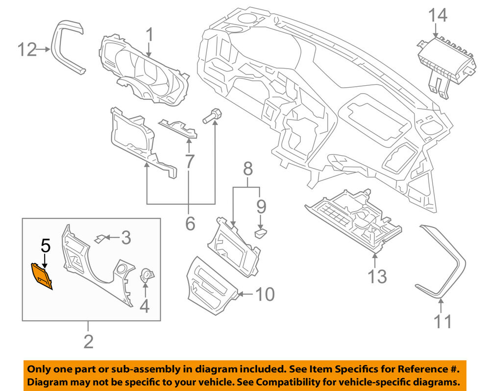 hight resolution of details about kia oem 12 13 optima instrument panel dash fuse box cover 847564c00187