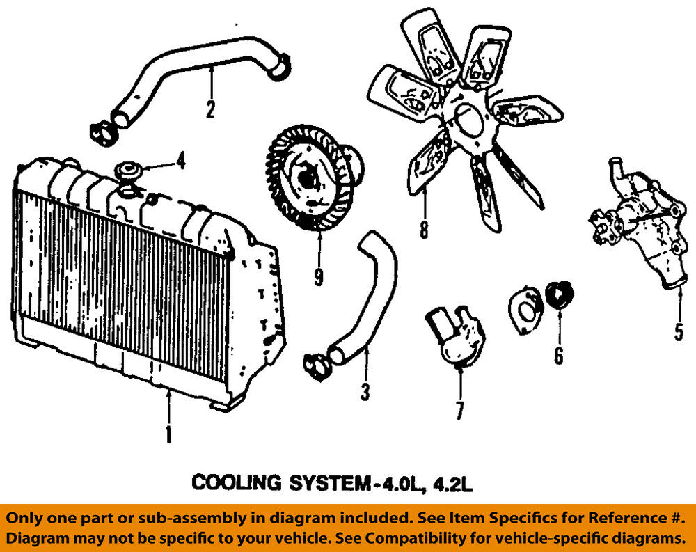 hight resolution of details about jeep chrysler oem 97 99 wrangler engine cooling radiator fan clutch 68064764aa