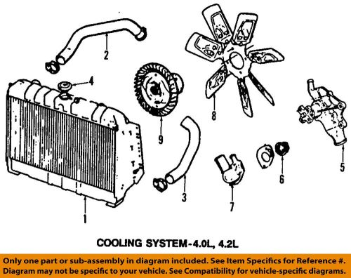 small resolution of details about jeep chrysler oem 97 99 wrangler engine cooling radiator fan clutch 68064764aa