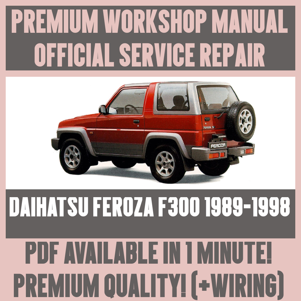 medium resolution of  workshop manual service repair guide for daihatsu feroza f300 1989 1998 ebay