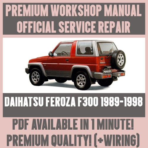 small resolution of  workshop manual service repair guide for daihatsu feroza f300 1989 1998 ebay