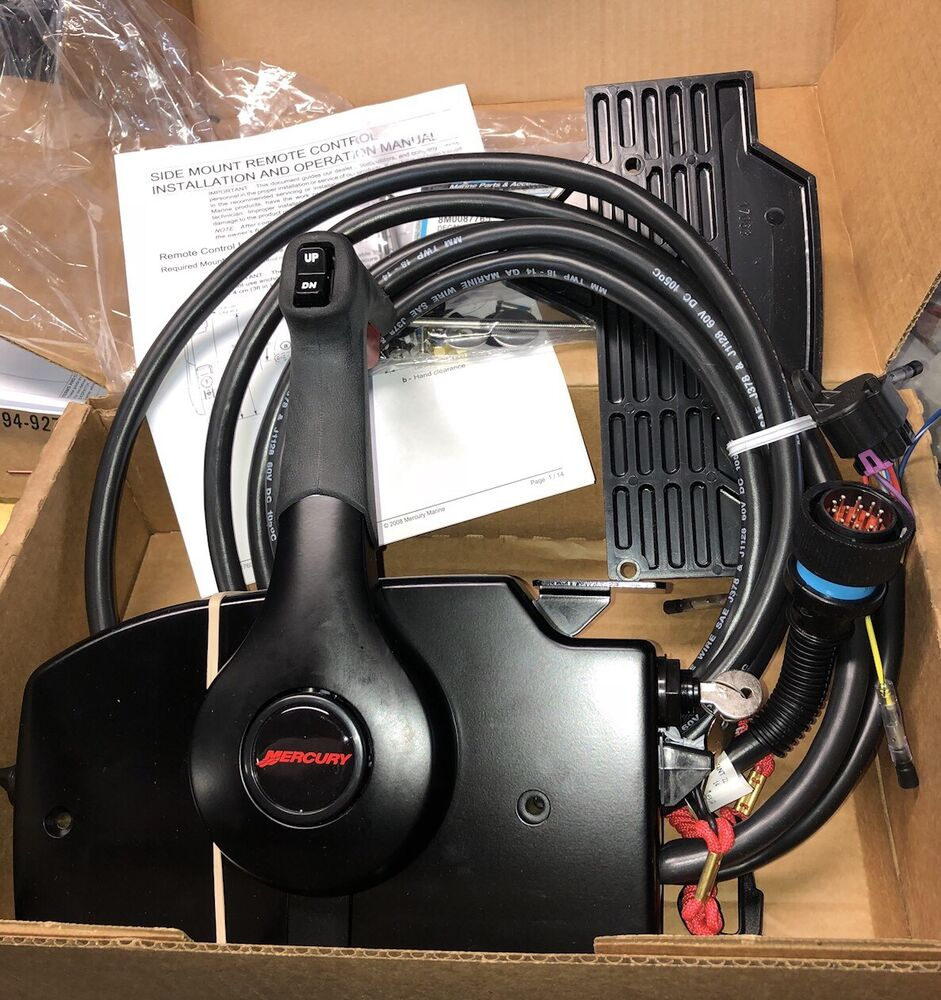 medium resolution of details about mercury mariner 14 pin power trim outboard remote control box with 15ft harness