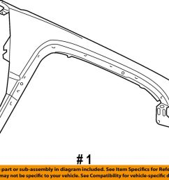 details about jeep chrysler oem 06 10 commander front fender quarter panel left 55369219ab [ 1000 x 808 Pixel ]
