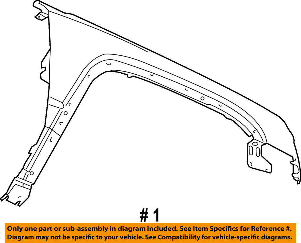 hight resolution of details about jeep chrysler oem 06 10 commander front fender quarter panel left 55369219ab