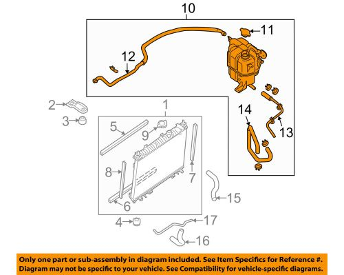 small resolution of details about nissan oem frontier radiator coolant overflow tank recovery bottle 21710ea01a