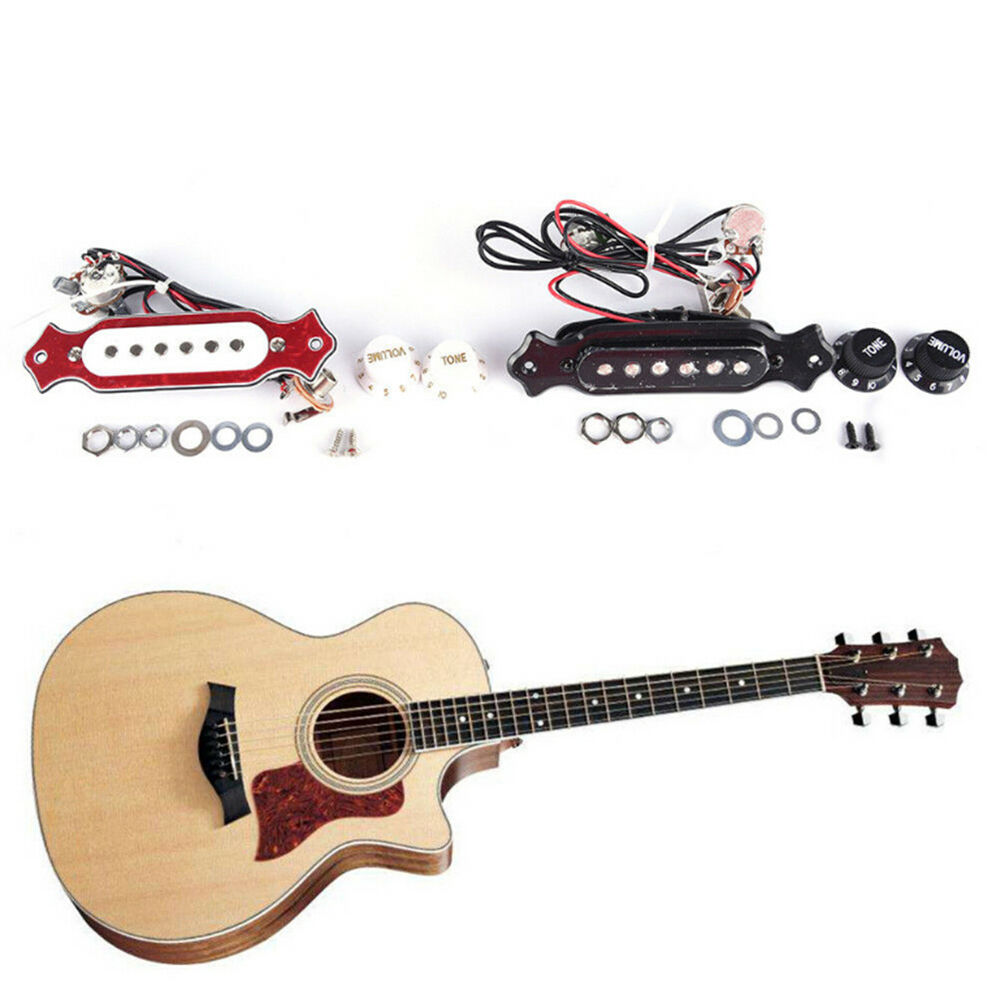 hight resolution of details about guitar sound hole pickup prewired wiring harness for 4 6 string cigar box new