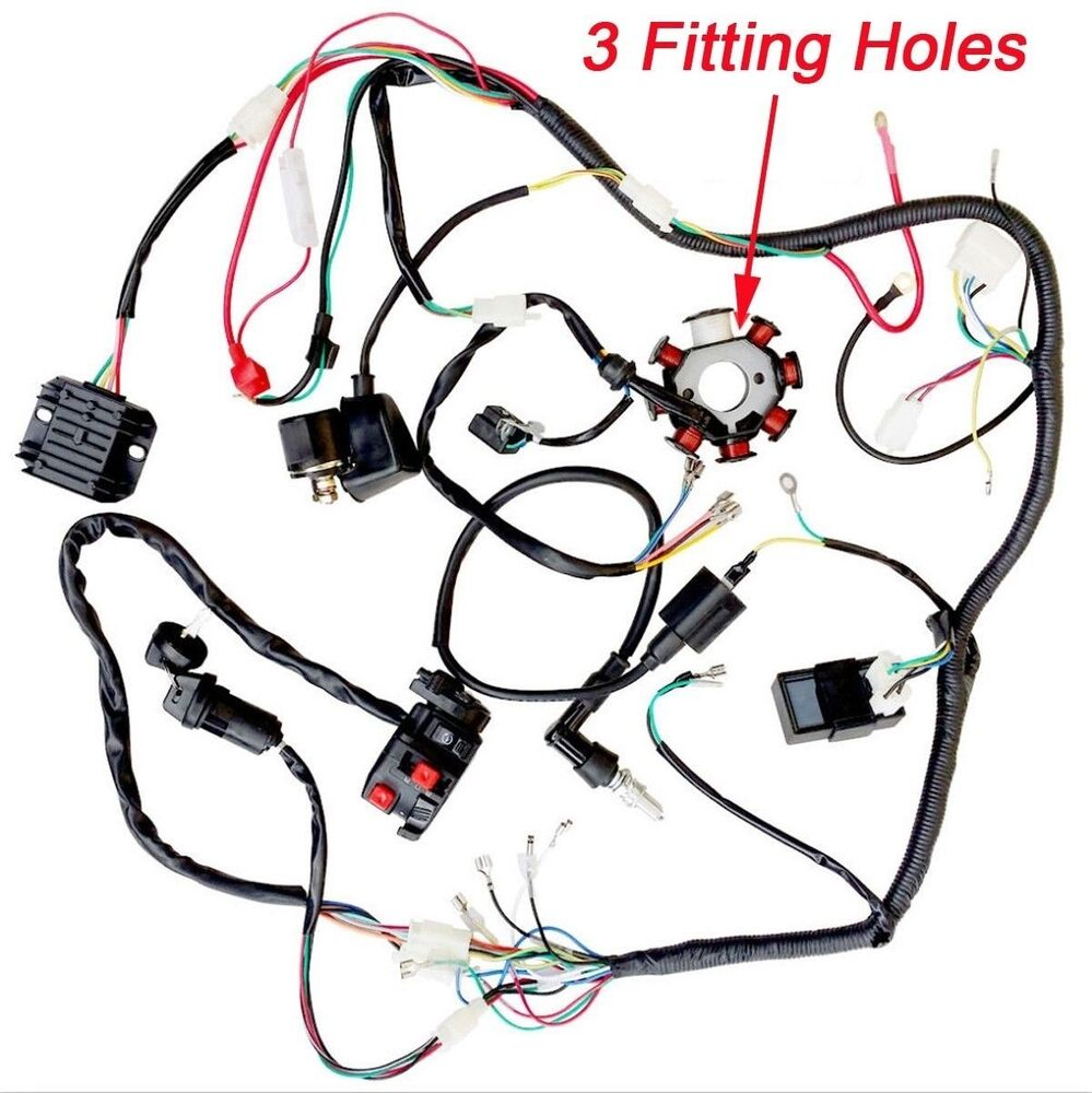 hight resolution of details about 200cc 250cc atv quad buggy magneto stator cdi coil wire harness wiring taotao