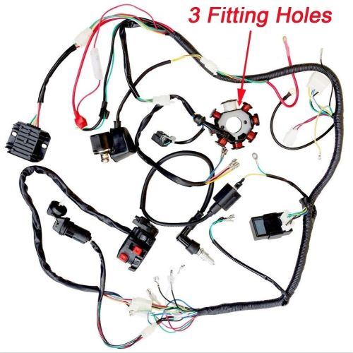small resolution of details about 200cc 250cc atv quad buggy magneto stator cdi coil wire harness wiring taotao