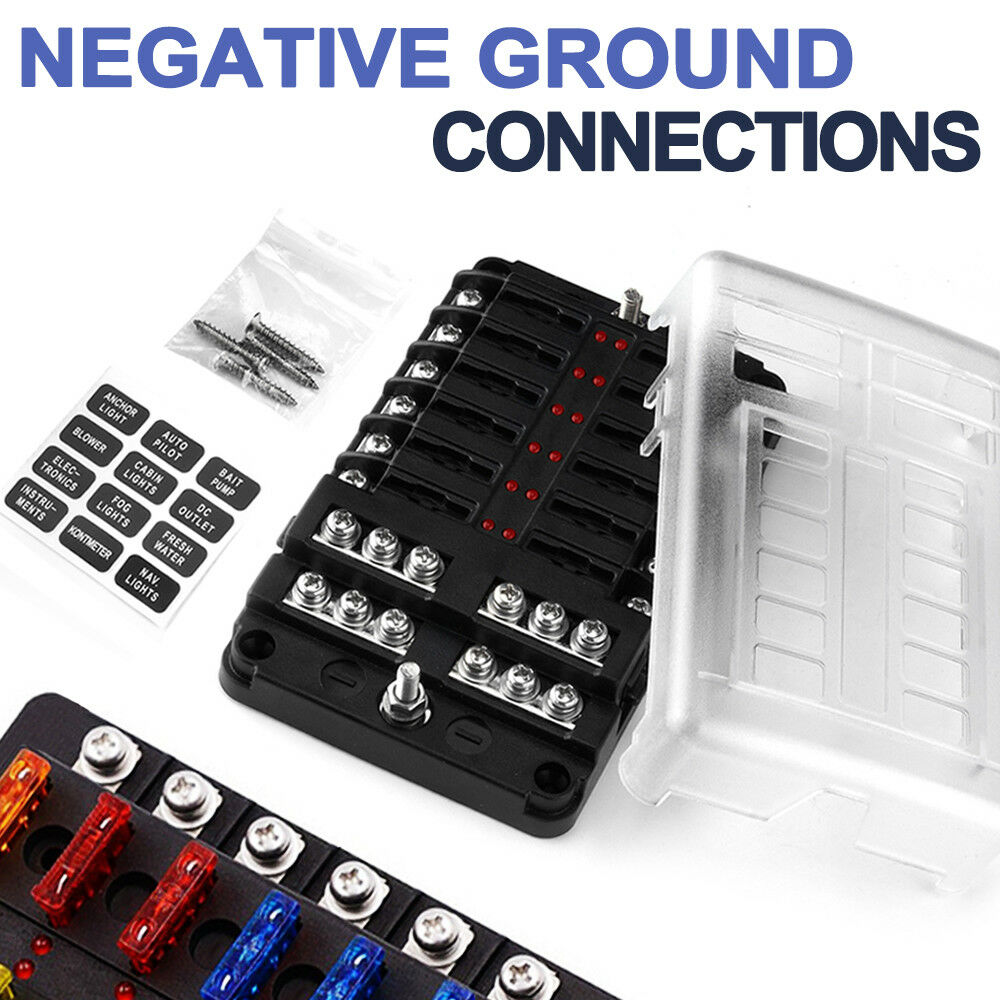 hight resolution of details about 12v 12 way fuse block box holder atc ato blade garavan marine dual battery