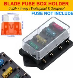 details about 12v 24v block auto car van marine bus bar blade fuse box holder circuit 4 way [ 1000 x 1000 Pixel ]