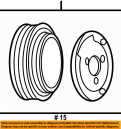 details about jeep chrysler oem a c ac condenser compressor line clutch pulley 68058044ab [ 964 x 1000 Pixel ]