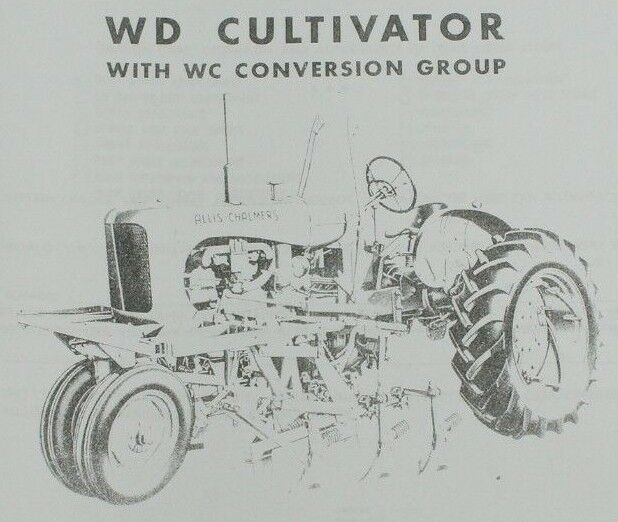 Allis Chalmers Model WD WC Group 2 Row Cultivator