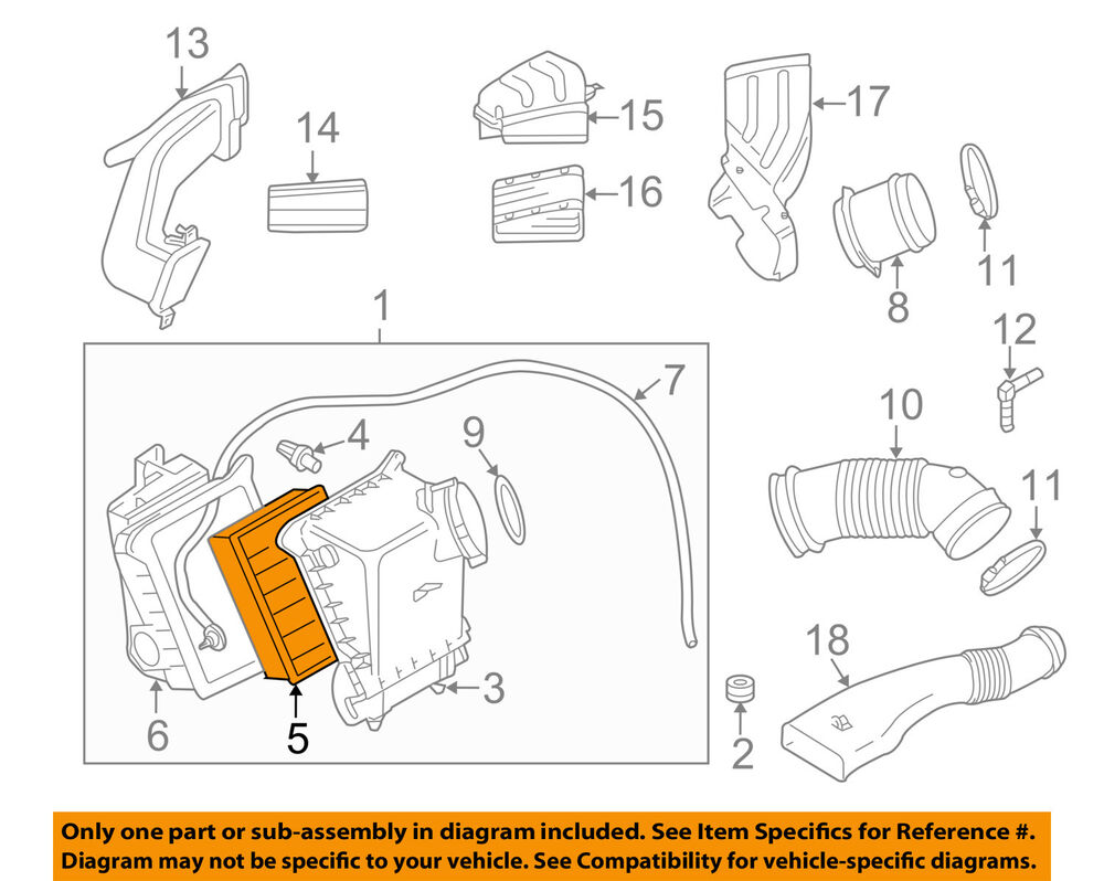 hight resolution of details about audi oem 04 07 s4 engine air cleaner filter element 079133843a
