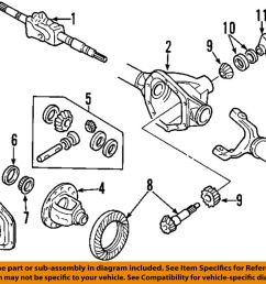 details about ford oem 99 18 f 350 super duty front axle cover dc3z4033a [ 1000 x 868 Pixel ]