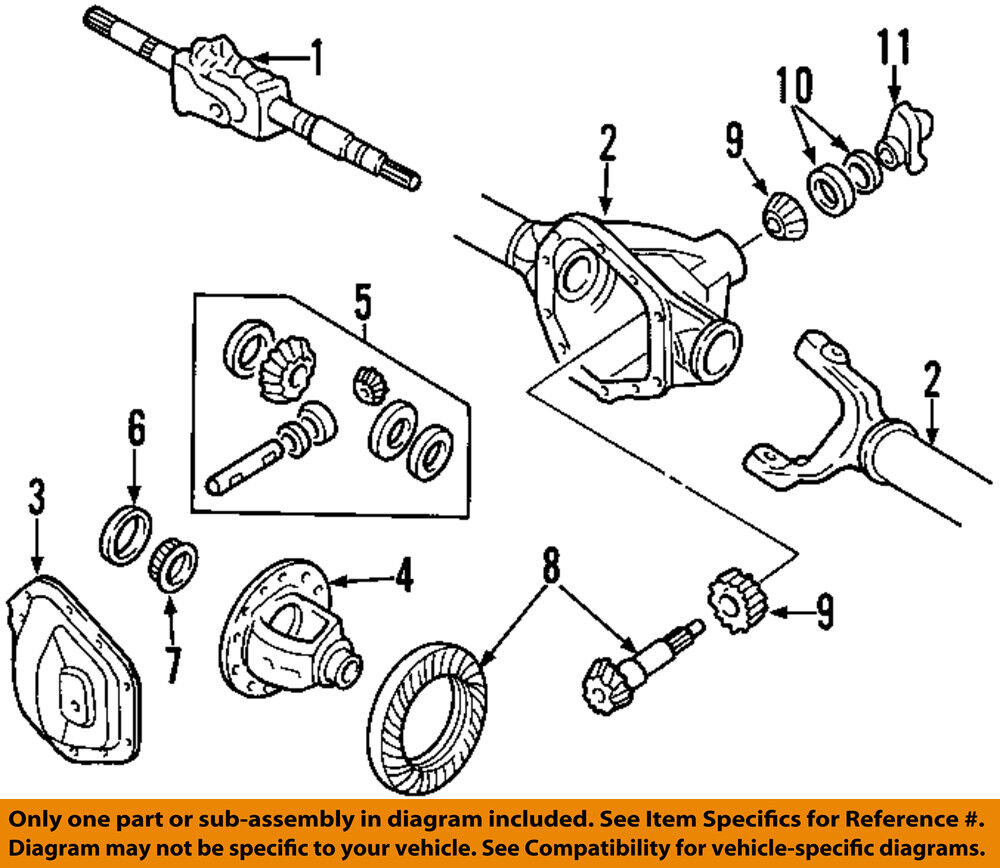 medium resolution of details about ford oem 99 18 f 350 super duty front axle cover dc3z4033a
