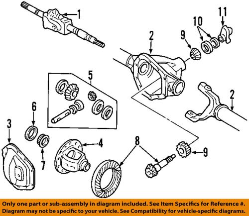 small resolution of details about ford oem 99 18 f 350 super duty front axle cover dc3z4033a