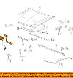 details about saturn gm oem 07 09 aura hood lock latch 20772159 [ 1000 x 798 Pixel ]