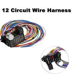 details about universal 12 circuit wiring harness muscle car hot rod street rod xl wires [ 999 x 1000 Pixel ]