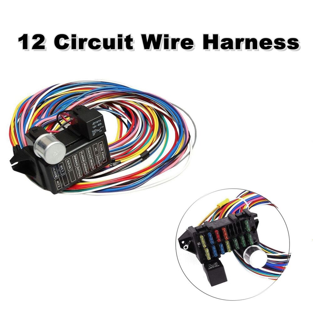 hight resolution of details about universal 12 circuit wiring harness muscle car hot rod street rod xl wires