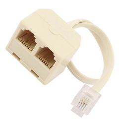 details about rj11 6p4c male to 2 way female outlet telephone jack line splitter adapter aff [ 1000 x 1000 Pixel ]