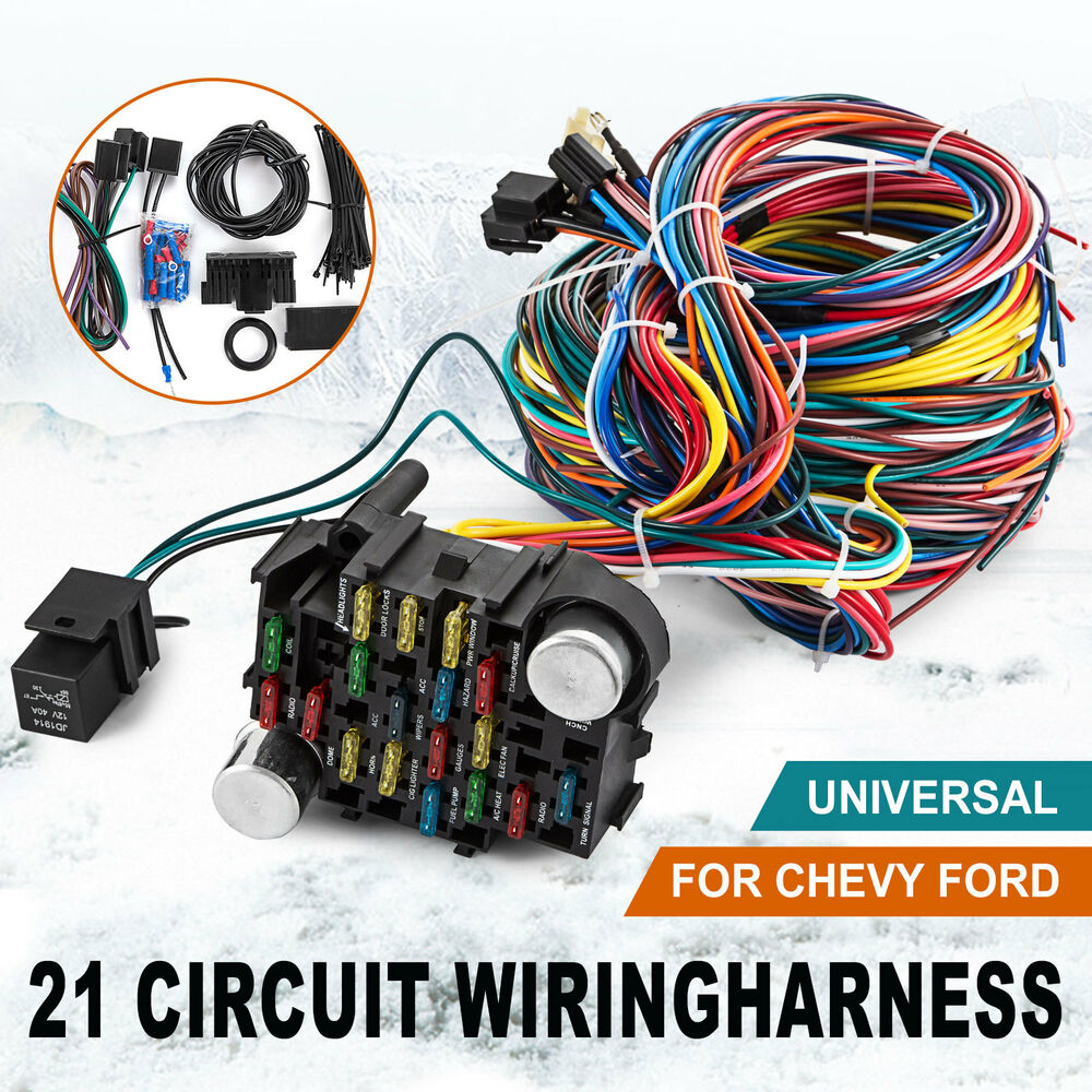 hight resolution of 21 circuit wiring harness chevy mopar ford hot rods