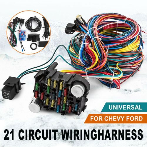 small resolution of 21 circuit wiring harness chevy mopar ford hot rods