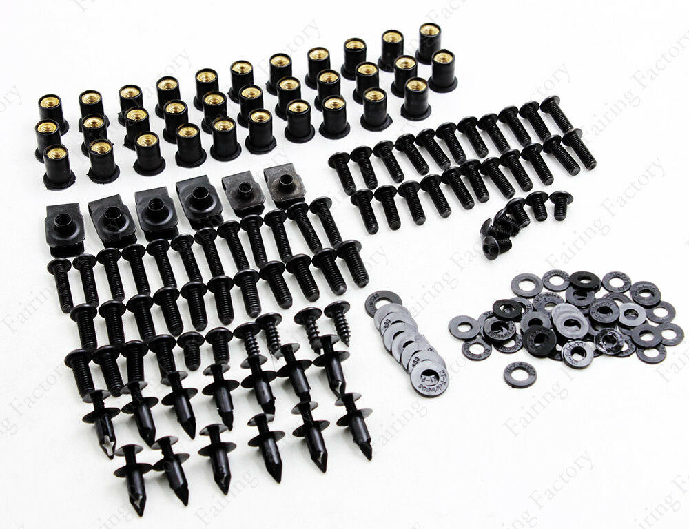 Motorcycle Complete Fairing Bolt Kit Body Screws For