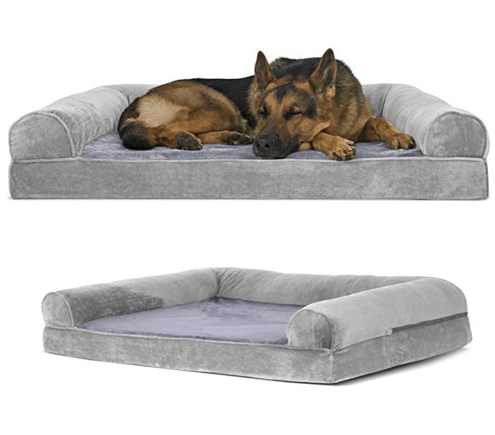 soft sofa dog bed silver leather tufted large k9 sleeping pet couch warm big cushion puppy details about jumbo xxl