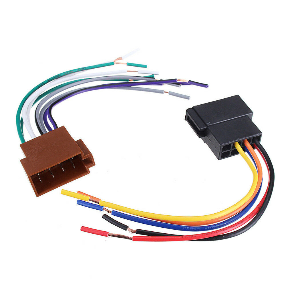 hight resolution of details about universal car stereo female socket radio iso wire harness adapter connector new