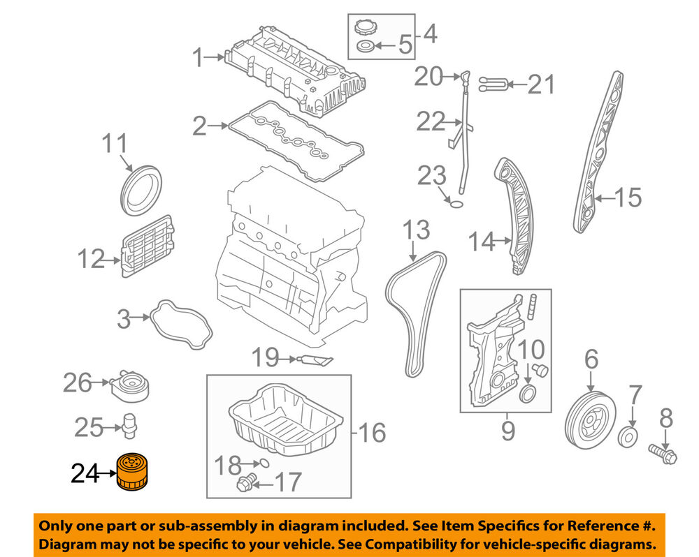 hight resolution of details about kia oem 01 18 optima engine oil filter 2630035504