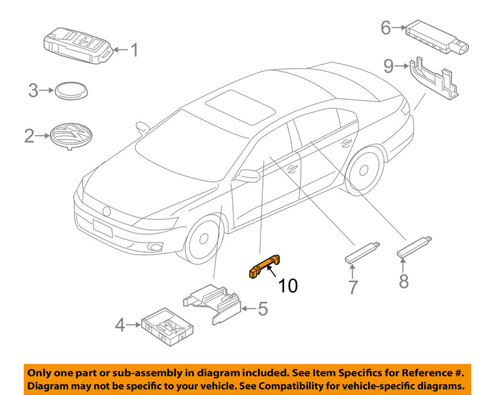 hight resolution of details about vw volkswagen oem 12 18 beetle keyless entry antenna holder 5k0962283