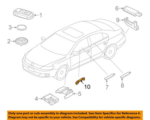 small resolution of details about vw volkswagen oem 12 18 beetle keyless entry antenna holder 5k0962283