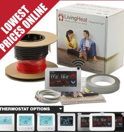 details about underfloor heating loose wire cable kits to warmup under tile floors 150w m2 [ 1000 x 1000 Pixel ]