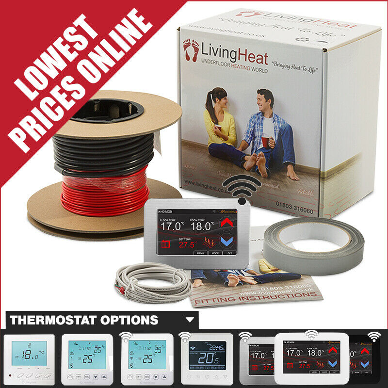 hight resolution of details about underfloor heating loose wire cable kits to warmup under tile floors 150w m2