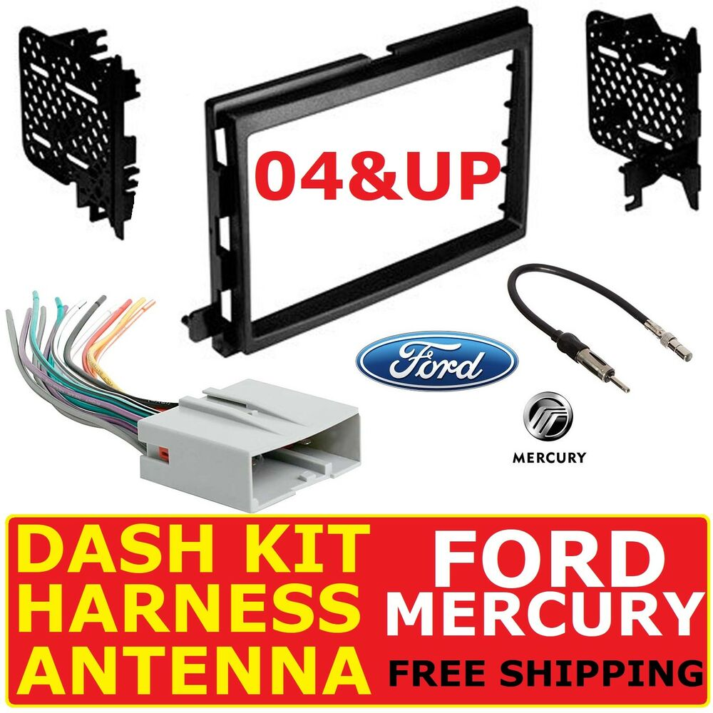 hight resolution of details about 2004 up ford mercury car radio stereo dash kit wire harness antenna adapter