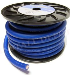 details about 50 ft premium 0 gauge blue power wire ground cable 1 0 awg car audio wiring [ 1000 x 863 Pixel ]