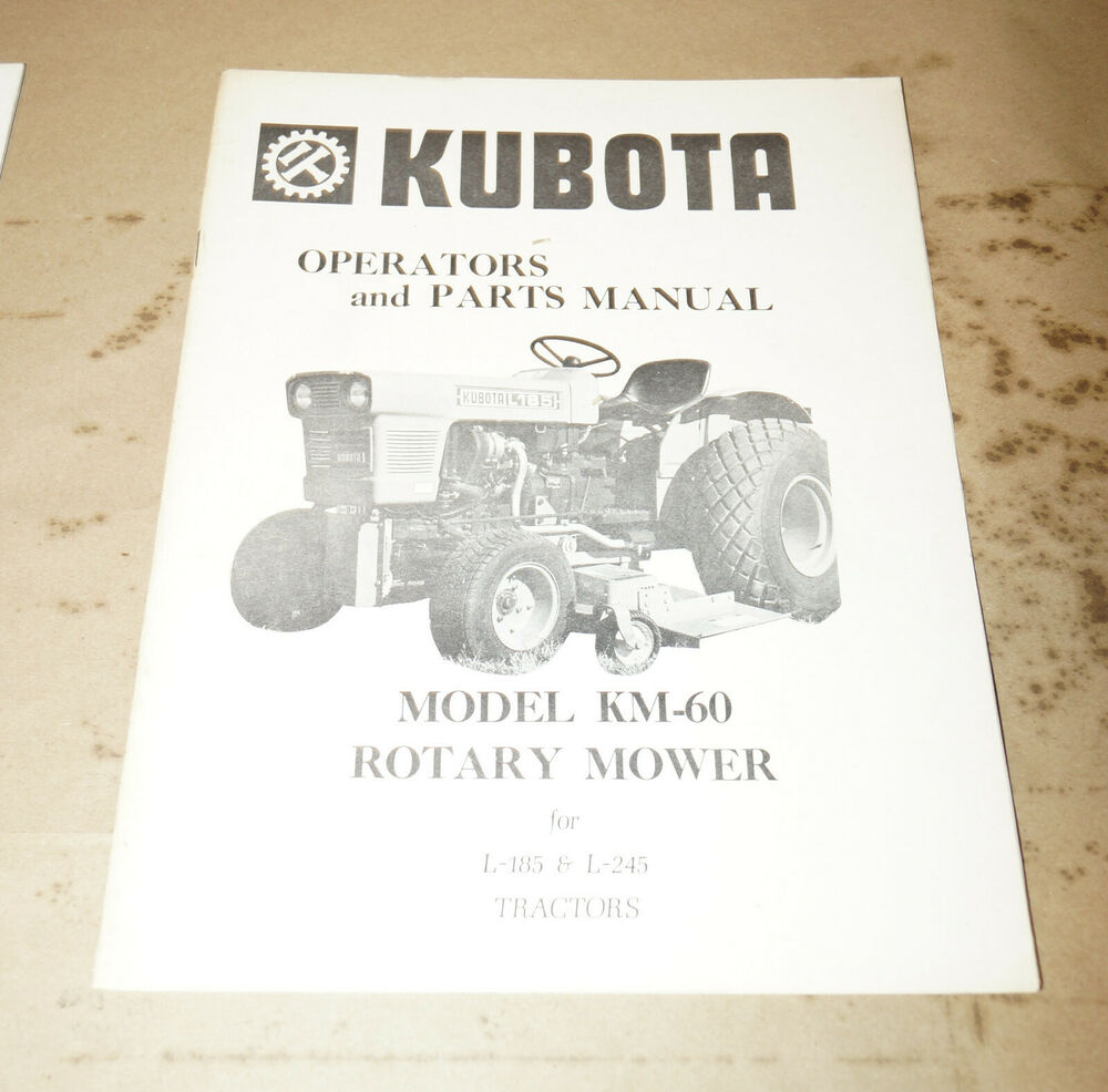hight resolution of details about kubota model km 60 rotary mower l 185 l 245 tractors operator s manual 0891374