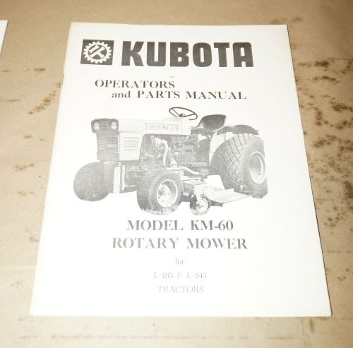 small resolution of details about kubota model km 60 rotary mower l 185 l 245 tractors operator s manual 0891374