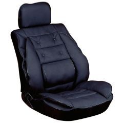 Leather Chair Pads Sling Stacking Patio Threshold Car Seat Cover Cushion With Back Support Look   Ebay