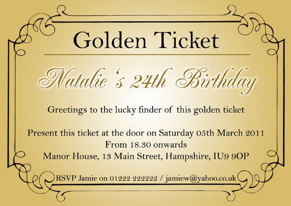 Golden Wedding Anniversary Invitation Template