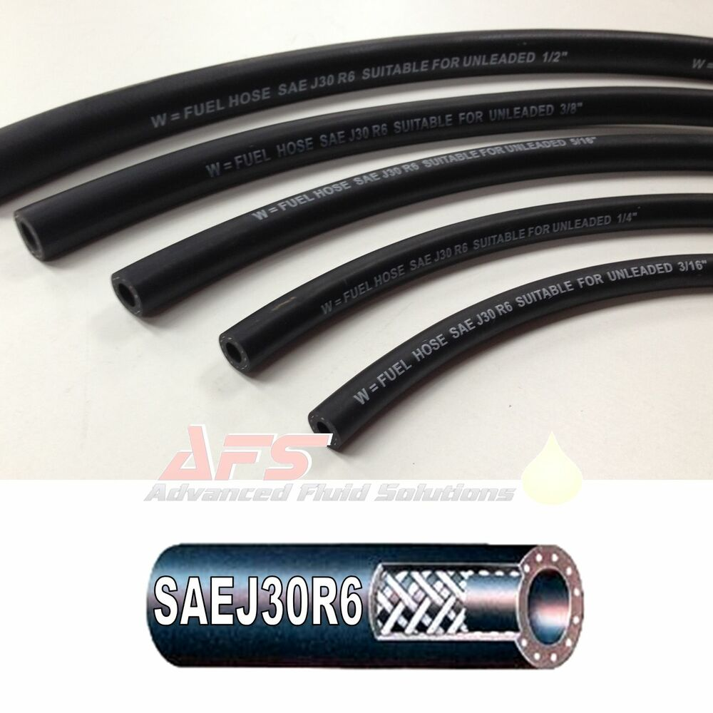 hight resolution of sae j30 r6 diesel fuel hose tubing unleaded petrol pipe nitrile nbr rubber oil ebay