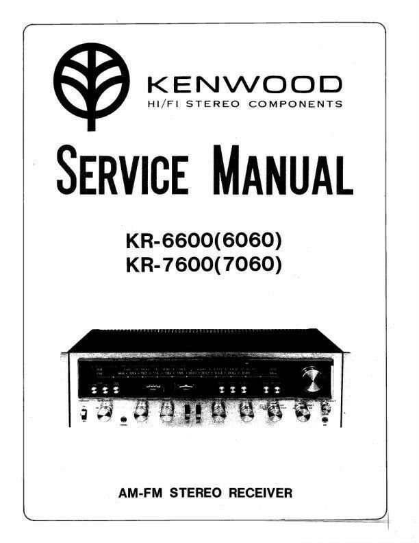 KENWOOD KR-6600 (6060) & KR-7600 (7060) SERVICE MANUAL 26
