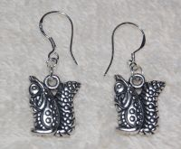 Squirrel Earrings! ALPHA GAMMA DELTA Sterling Silver Wire ...