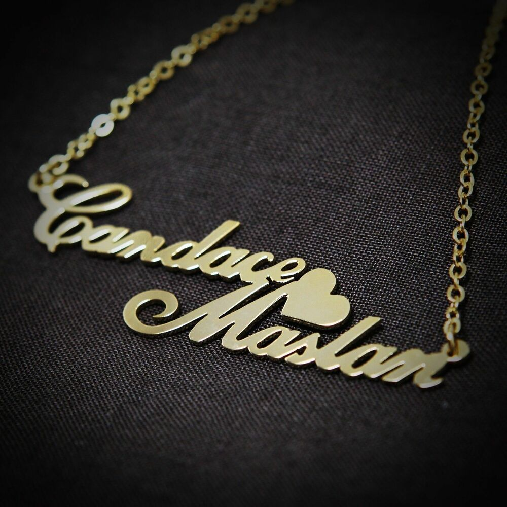 Personalized Jewelry Double Love Couples Name Necklace