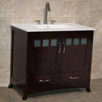 """36"""" Bathroom Vanity Cabinet with Ceramic Top Integrated ..."""