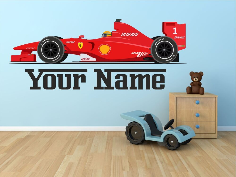 Disney Cars Mural Wallpaper Ebay F1 Ferrari Car Personalised Wall Sticker Art Vinyl Decal